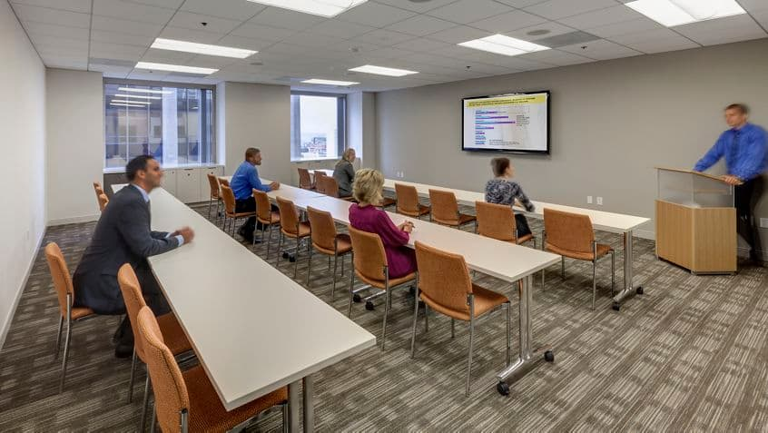 Interior photography of conference center at Symphony Towers, 750 B Stree , San Diego , CA 92101