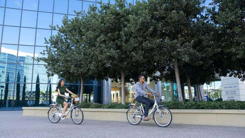 Lifestyle photography of Zagster bike share program at La Jolla Center