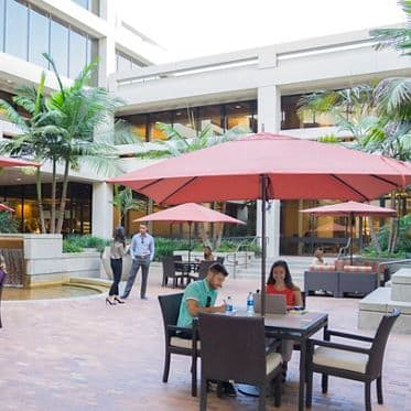 Lifestyle photography of the Commons, at La Jolla Gateway, 9191 Town Center Drive, San Diego, Ca