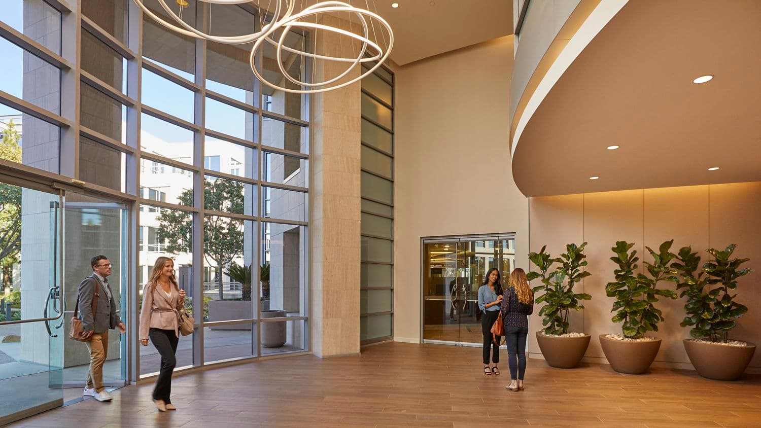 Interior view of lobby at La Jolla Reserve in San Diego, CA.