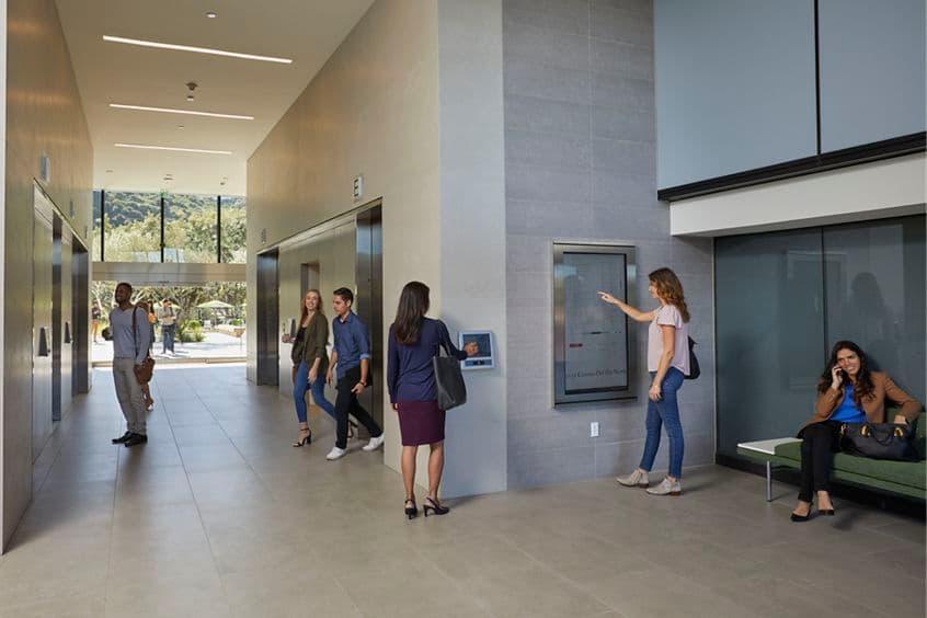 Lobby interior at Centerside, Camino del Rio North, San Diego, CA