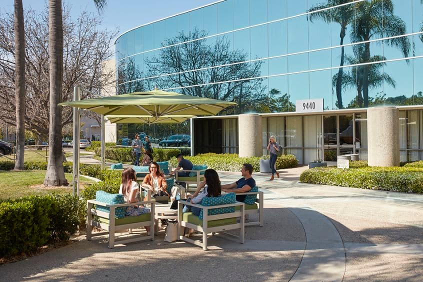 Outdoor workspace photography at 9440 Carroll Park Drive in Canyon Ridge, San Diego, CA