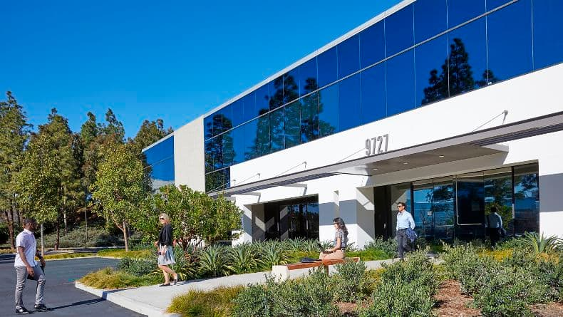 Exterior view of 9727 Pacific Heights Blvd at 9717/9727 Pacific Heights Blvd in San Diego, CA.