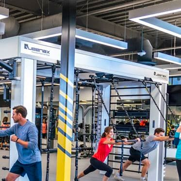 Lifestyle photography of the KINETIC fitness center located at McCarthy Center in Milpitas, CA
