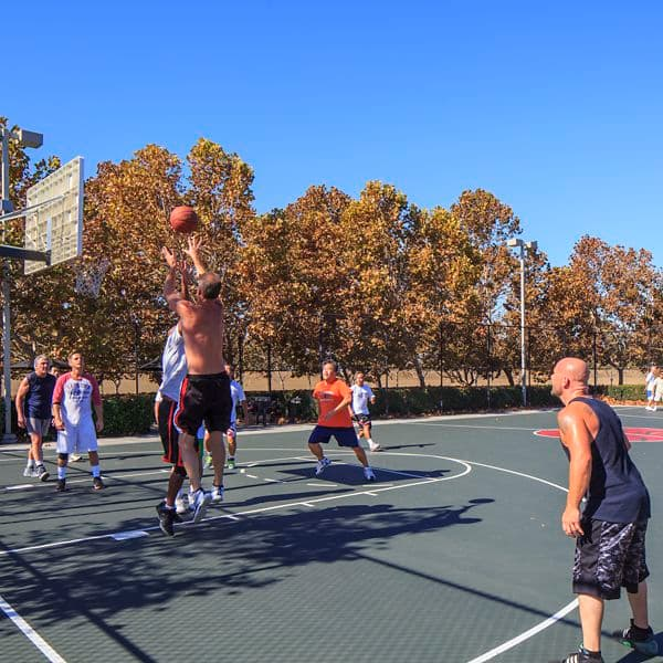 Sport court at McCarthy Center.