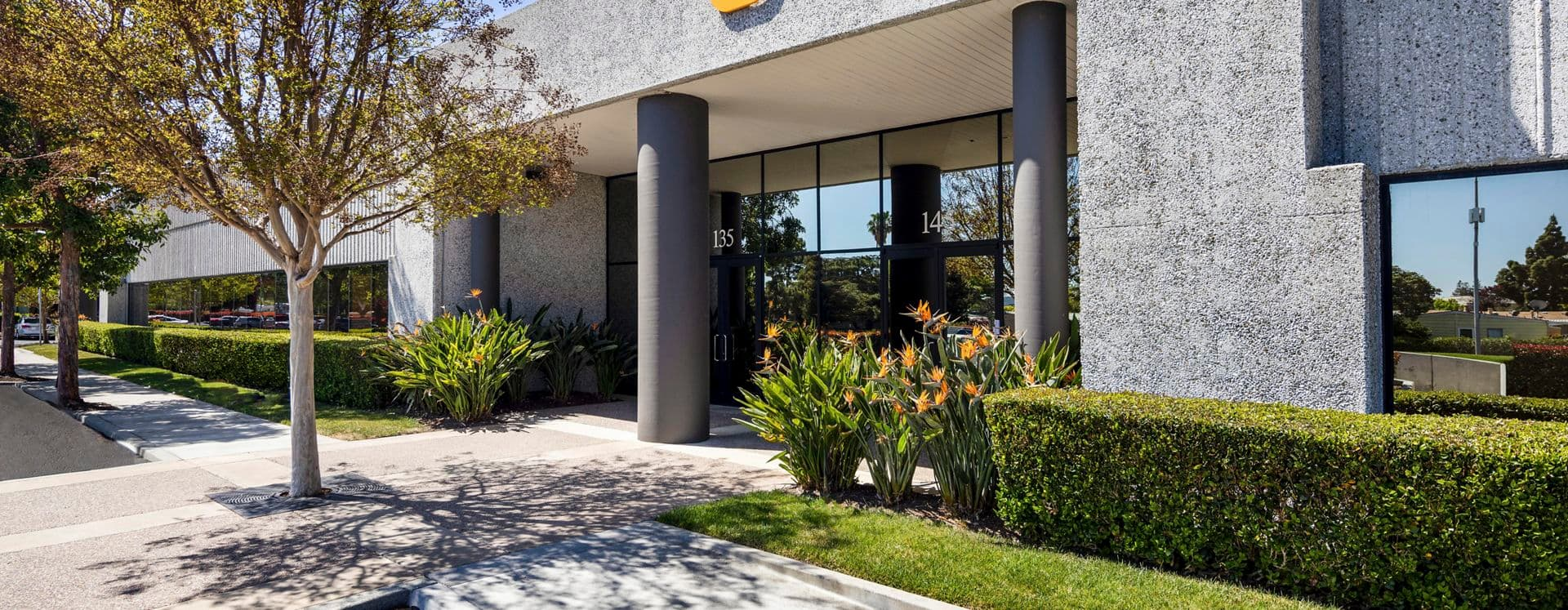 Exterior building photography of 125-155 Nicholson Lane in First Point, in San Jose, California.