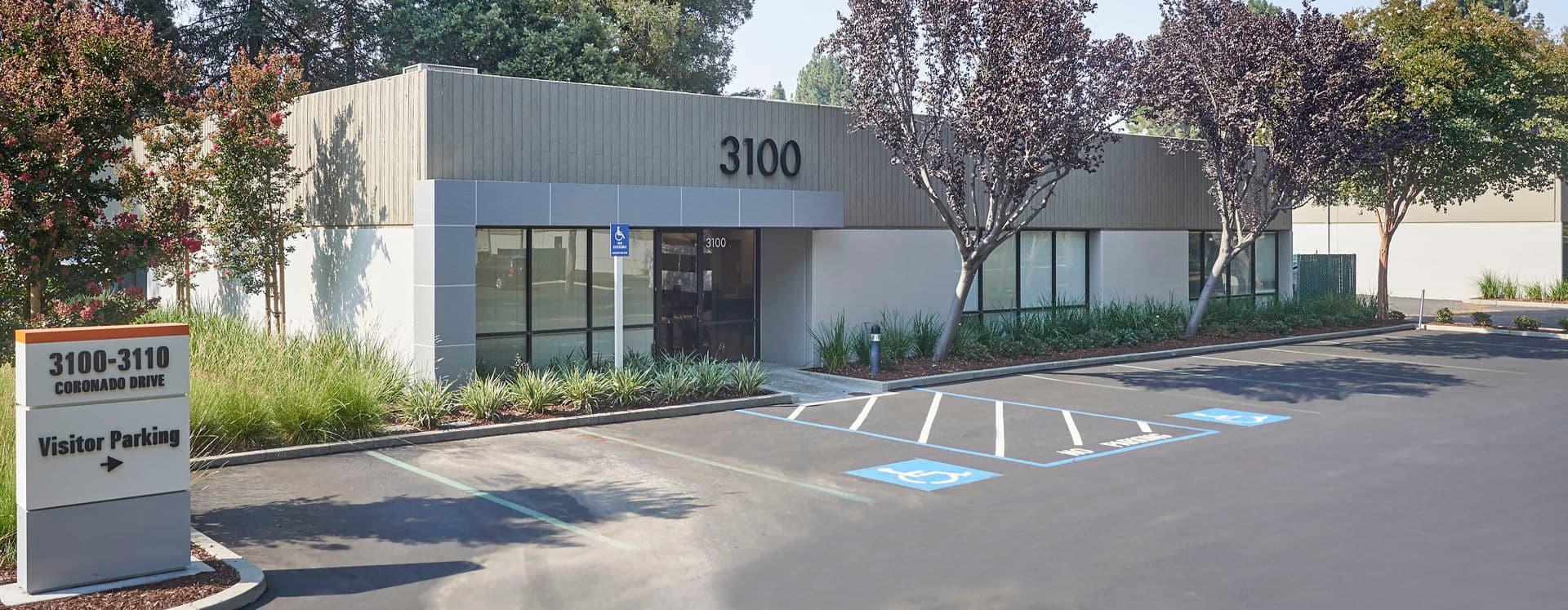 Exterior view of 3100 Coronado Drive at Coronado Park @ The Square..