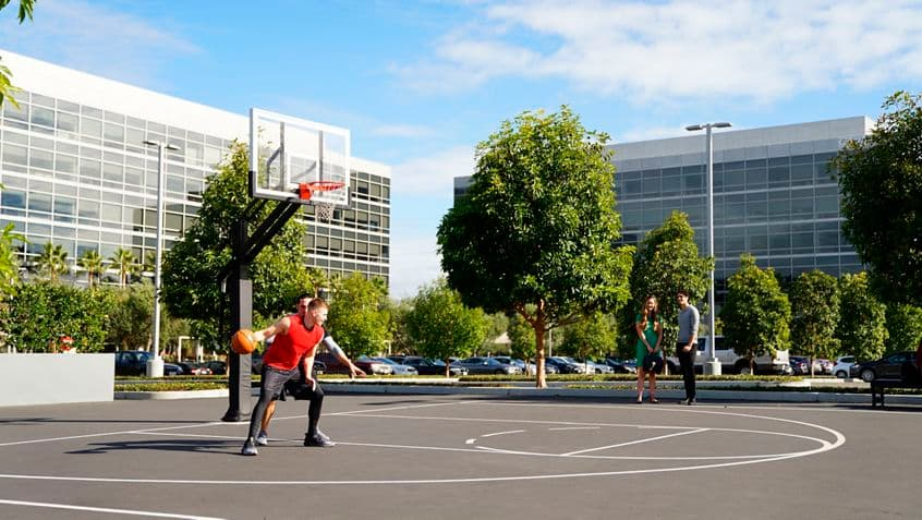 Lifestyle photography of KINETIC basketball court at Santa Clara Gateway, Santa Clara, Ca