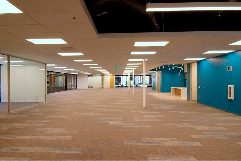 Interior view of suite 100 in 3940 Freedom Circle at Santa Clara Park at Freedom Circle in Santa Clara, California.