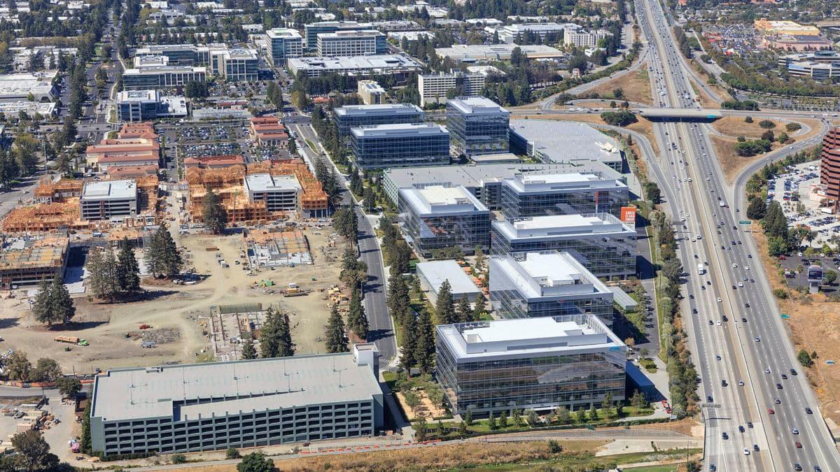 Aerial photography of Santa Clara Square campus