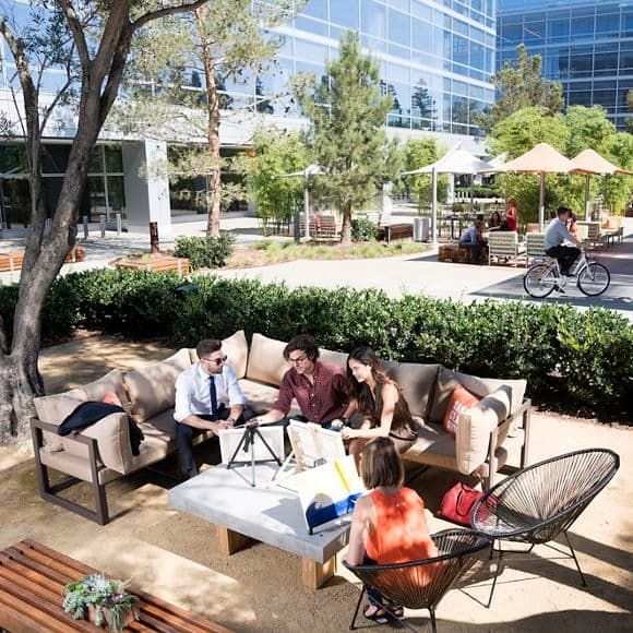 Lifestyle photography of the Den, at Santa Clara Square, Phase II