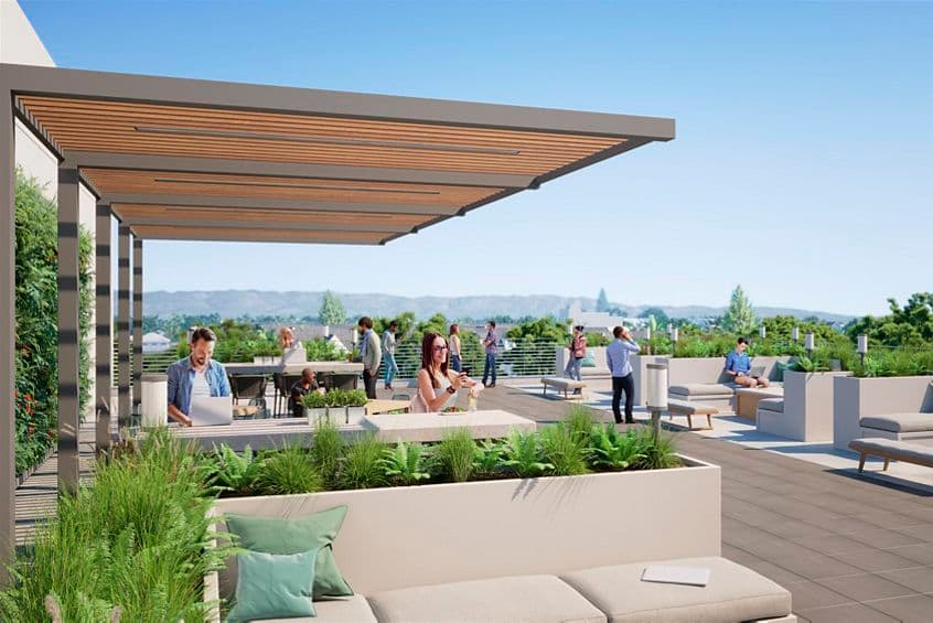 Rendering view of Balcony at 275 North Mathilda in Sunnyvale, CA