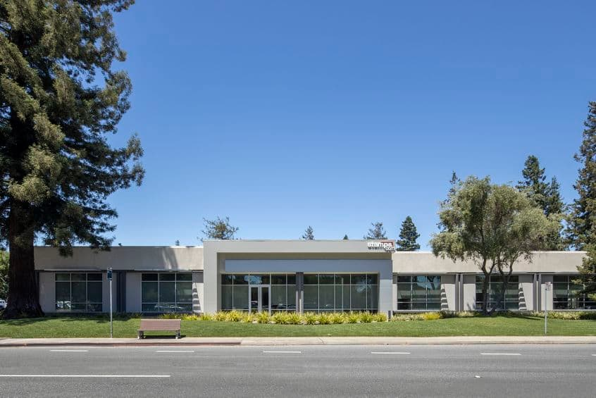 Building hero photography of 323 N Mathilda Ave in Sunnyvale, CA