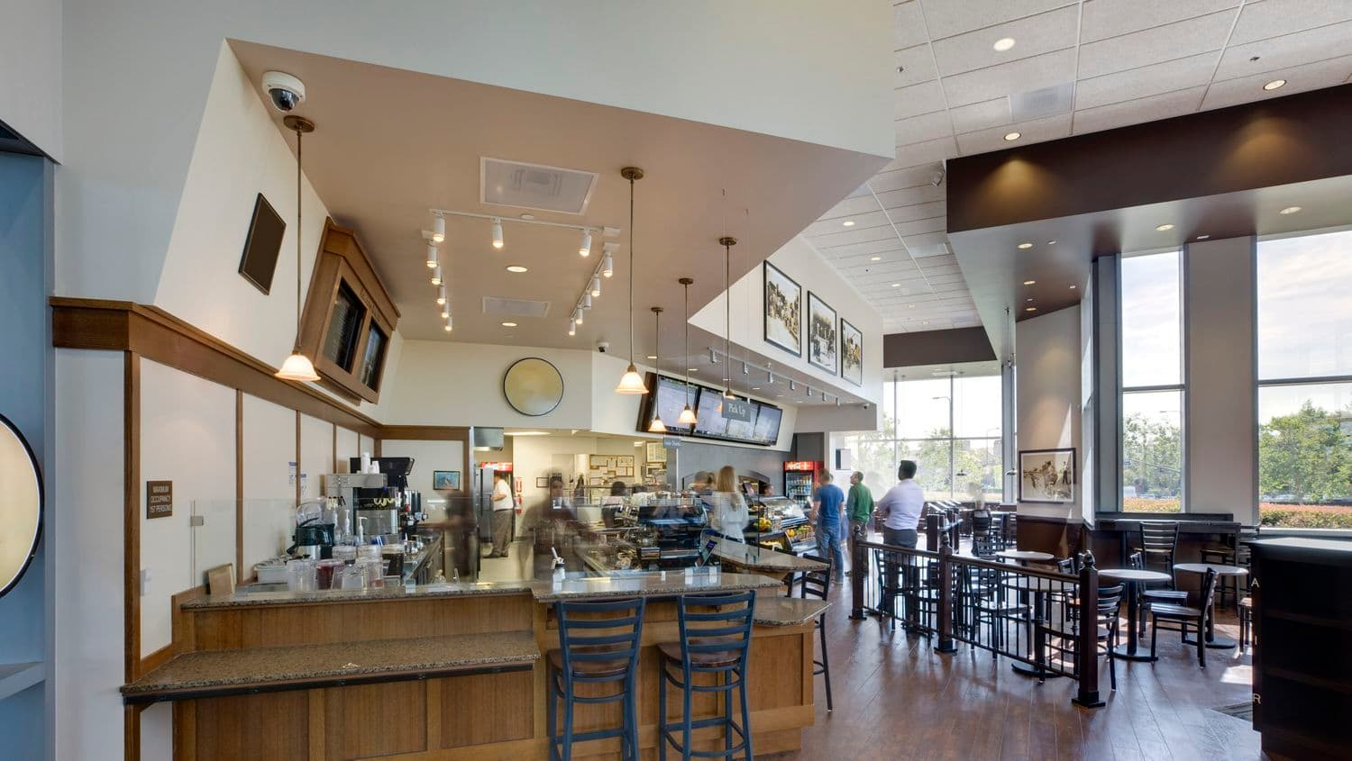 Photography of the cafe at Fox Plaza in Los Angeles, CA